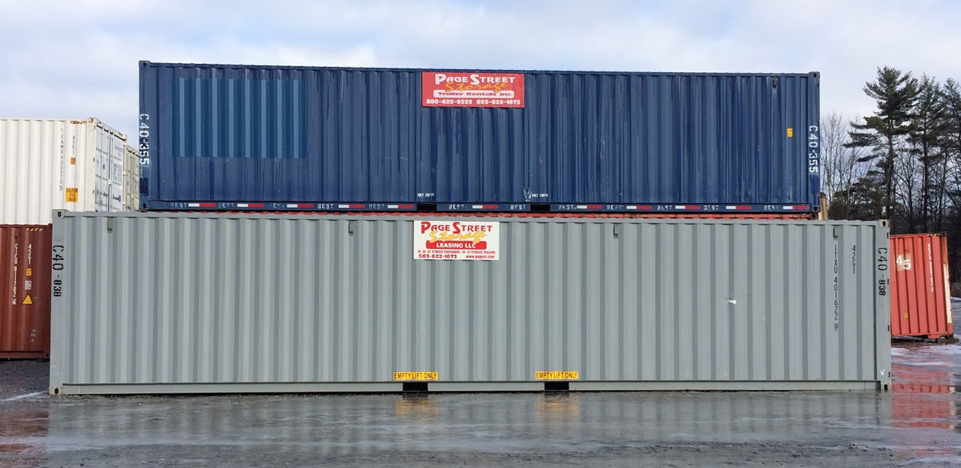 Image of storage containers to rent